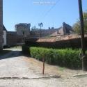 Cetatea Aiud in curte