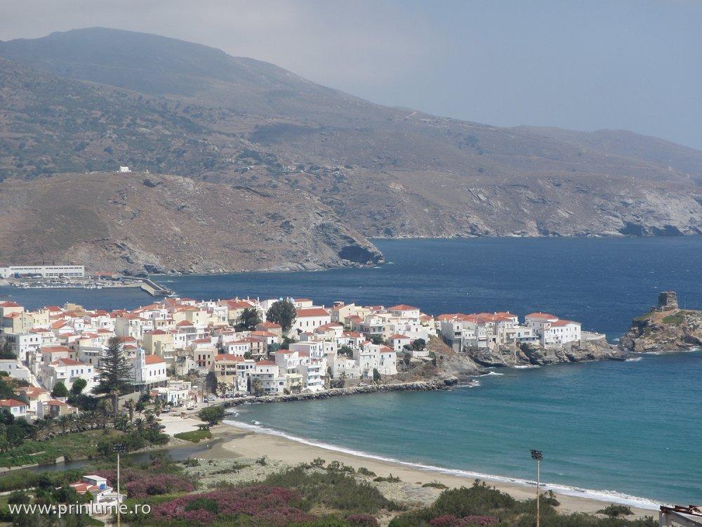 Adros, capitala insulei Andros - Cyclades - Grecia