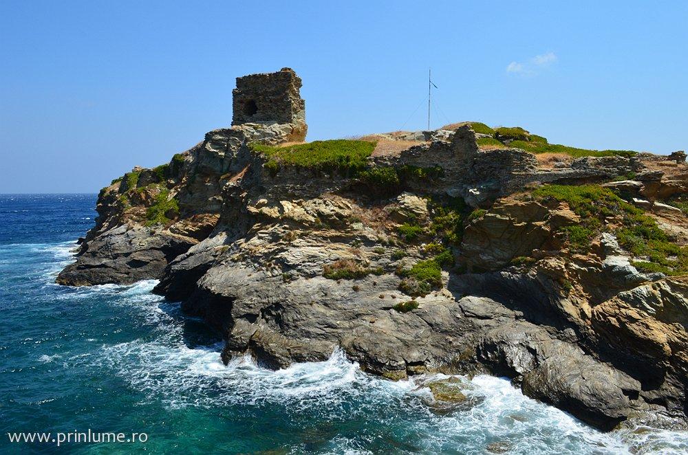 Andros - ruinele unei cetăți