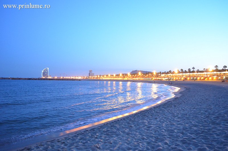 Plaja, Port Olimpic, seara