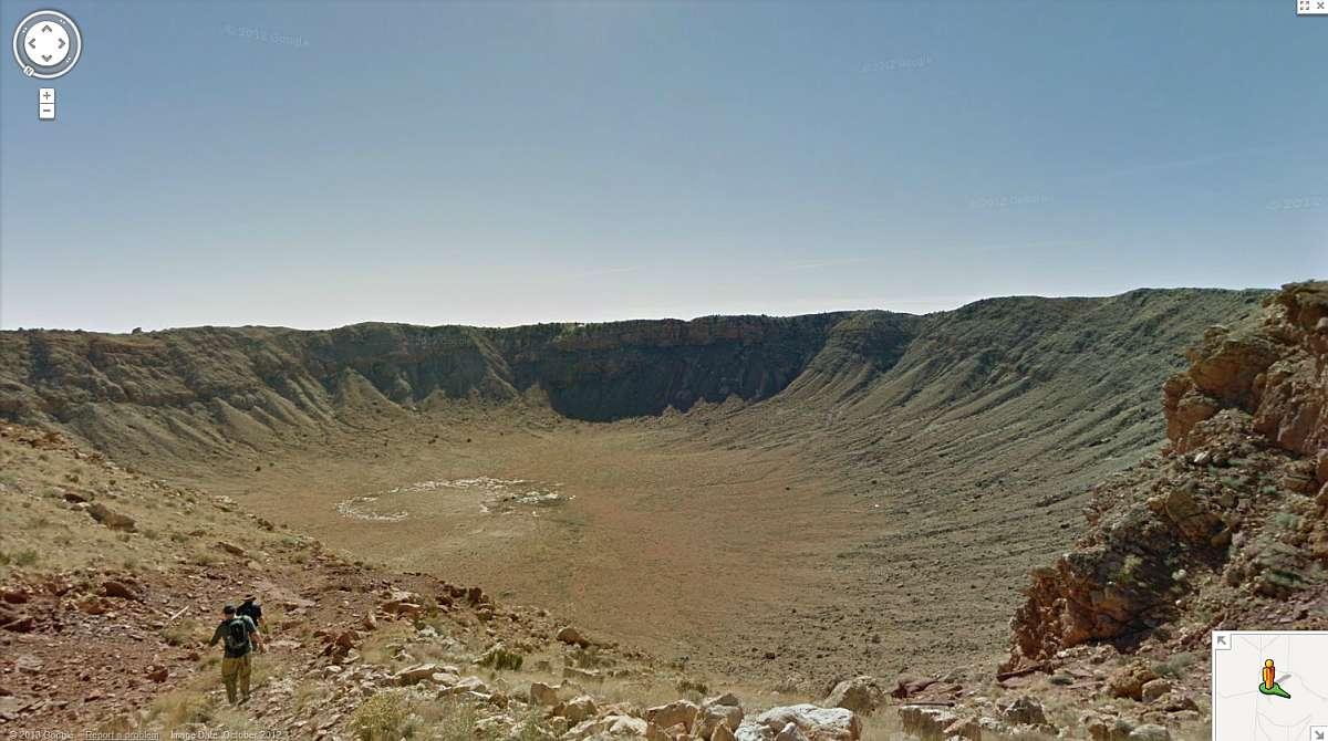 Streetview - Crater de meteorit